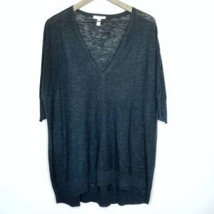 Eileen Fisher Linen Blend Thin Knit Tunic Sweater